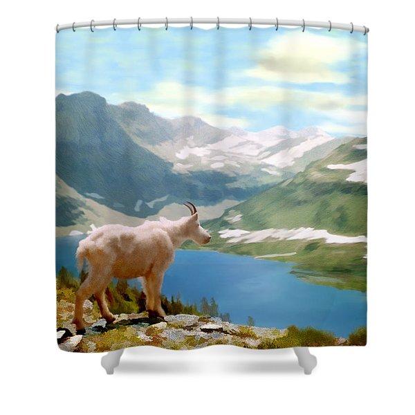 Glacier National Park Shower Curtain by Kurt Van Wagner