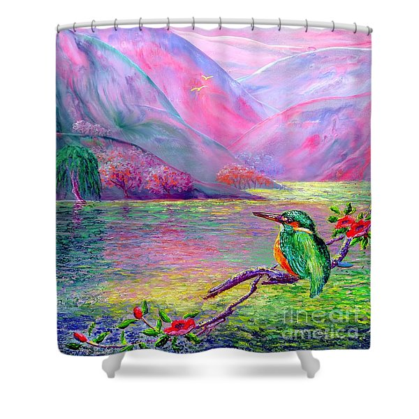 Shimmering Streams Shower Curtain by Jane Small