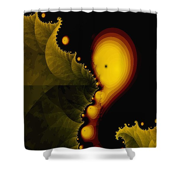 Glow Worm Shower Curtain by Gina Lee Manley