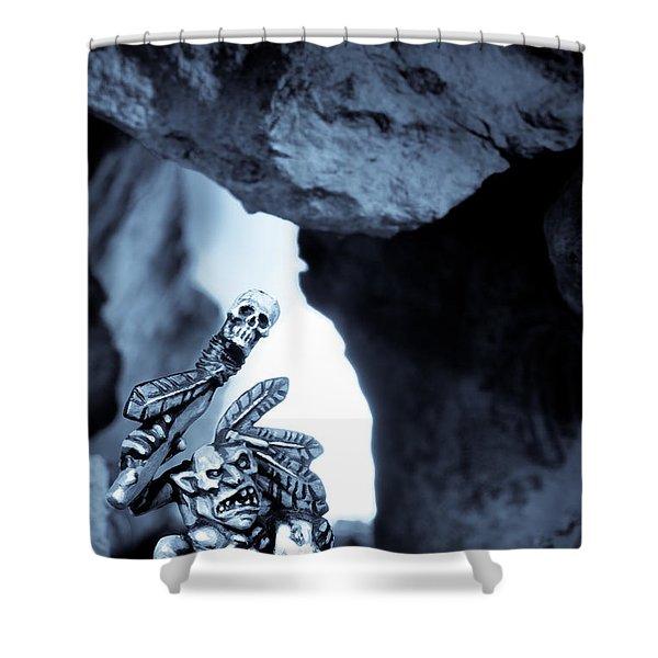 Goblin Shaman Shower Curtain by Marc Garrido