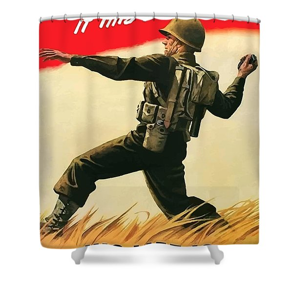 God Help Me If This Is A Dud Shower Curtain by War Is Hell Store