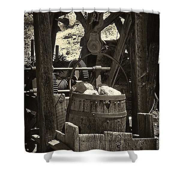 Gold Bucket Shower Curtain by Paul W Faust -  Impressions of Light