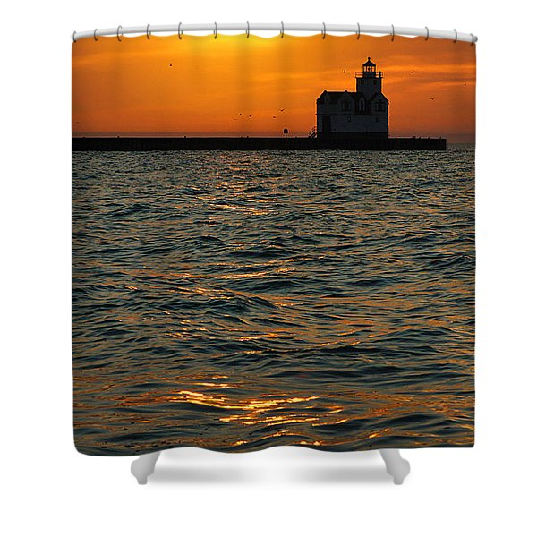 Gold on the Water Shower Curtain by Bill Pevlor