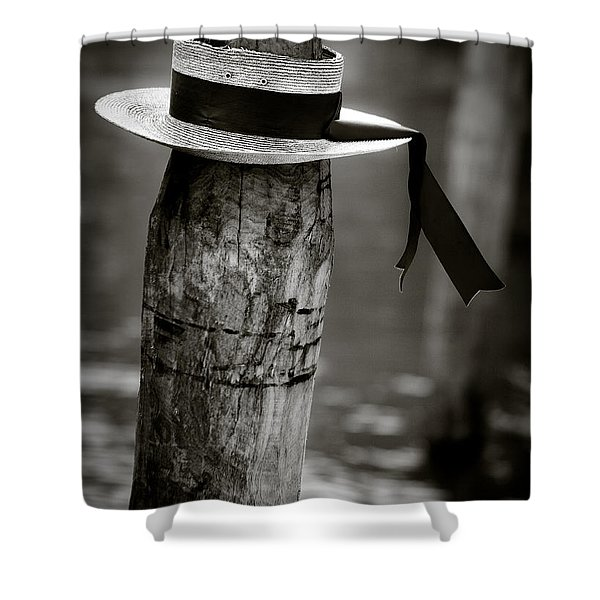 Gondolier Hat Shower Curtain by Dave Bowman