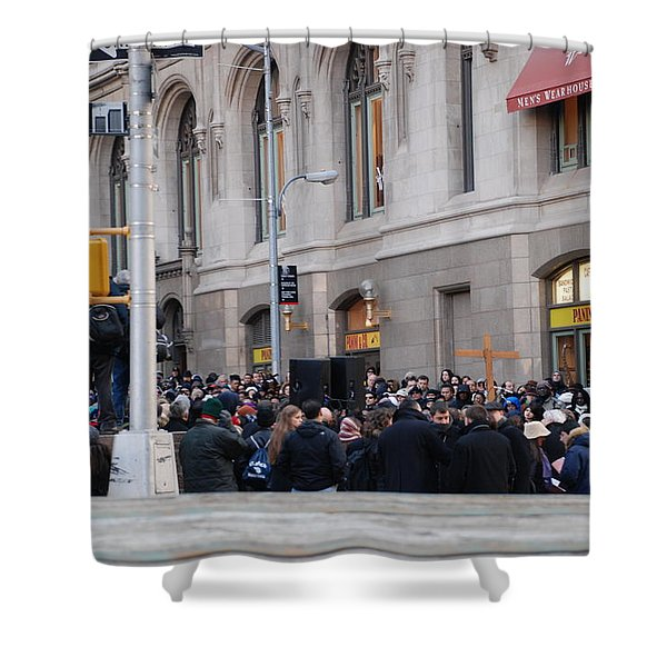 GOOD FRIDAY ON TRINITY PLACE Shower Curtain by ROB HANS