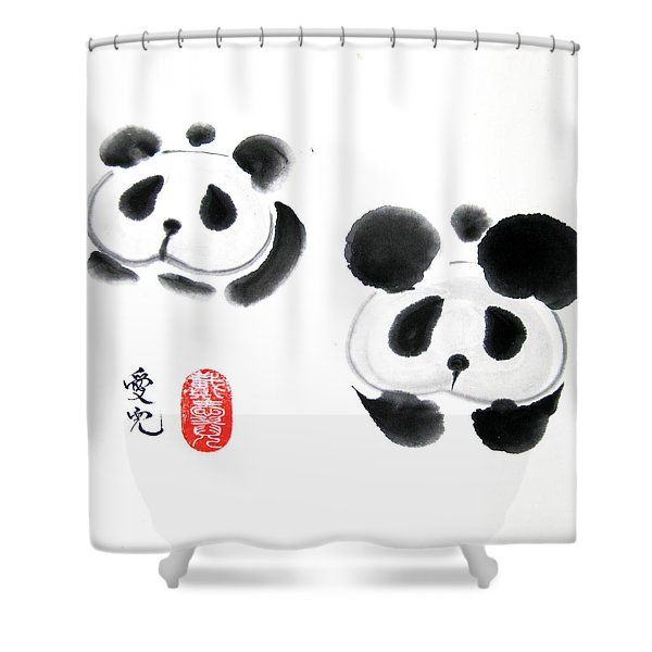 Good Things Come In Pairs Shower Curtain by Oiyee  At Oystudio