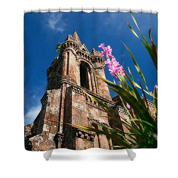 Gothic Chapel Shower Curtain by Gaspar Avila
