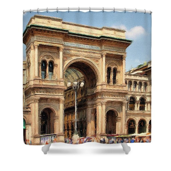 Grande Ingresso Shower Curtain by Jeff Kolker