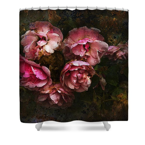 Grandmother's Roses Shower Curtain by Ron Jones