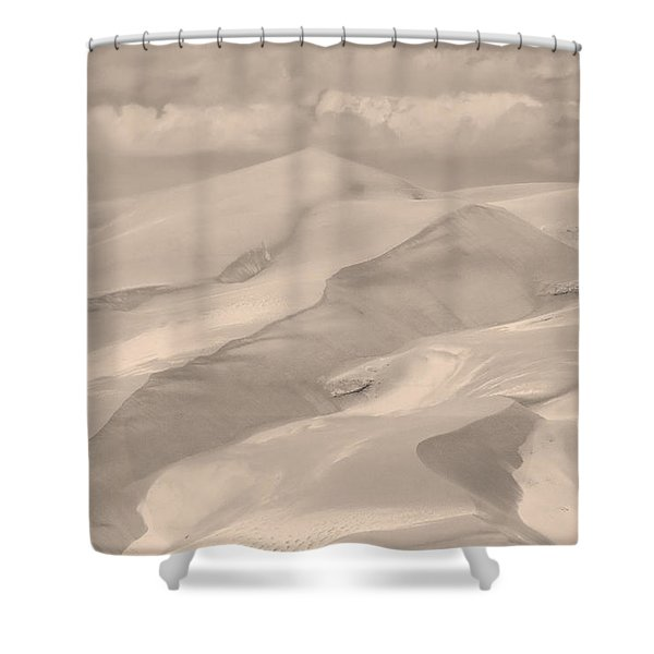 Great Sand Dunes  - In Sepia Shower Curtain by James BO  Insogna