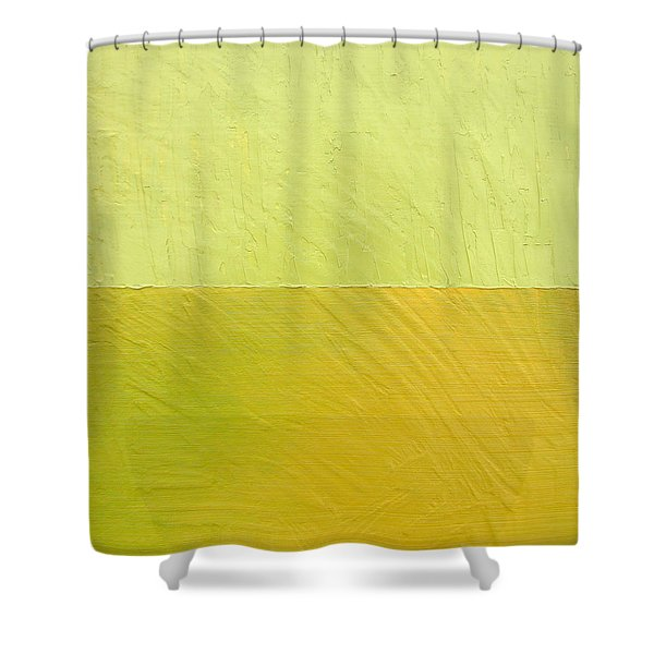 Green And Greenish Shower Curtain by Michelle Calkins