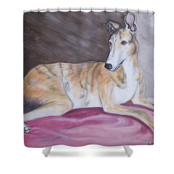 Greyhound Number 2 Shower Curtain by George Pedro