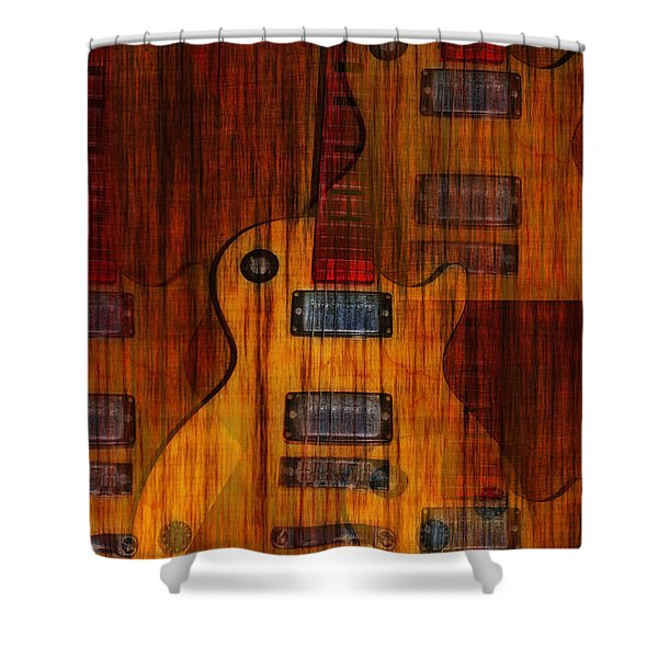 Guitar Army Shower Curtain by Bill Cannon