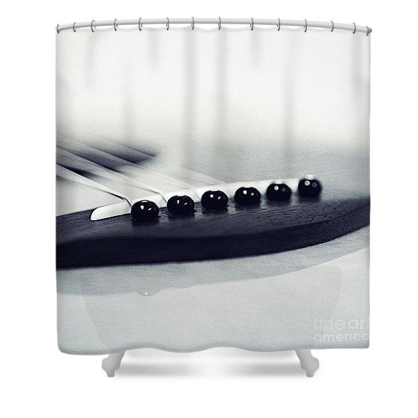 guitar II Shower Curtain by Priska Wettstein