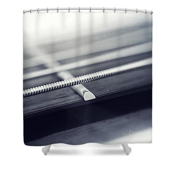 guitar IV Shower Curtain by Priska Wettstein
