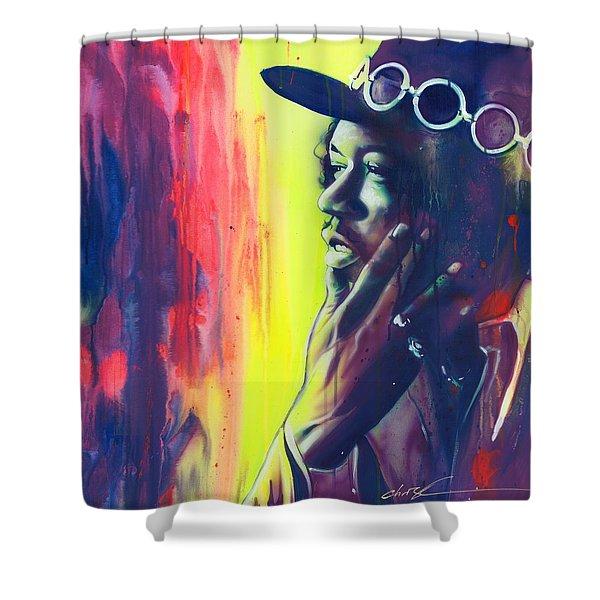 'gyspy Sun And Rainbows' Shower Curtain by Christian Chapman Art