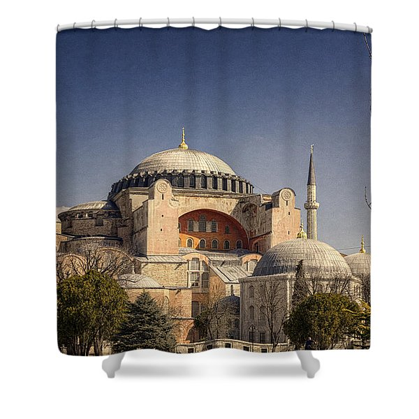 Hagia Sophia Shower Curtain by Joan Carroll