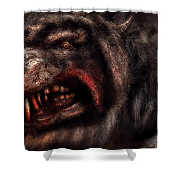 Halloween -  Mad Dog Shower Curtain by Mike Savad