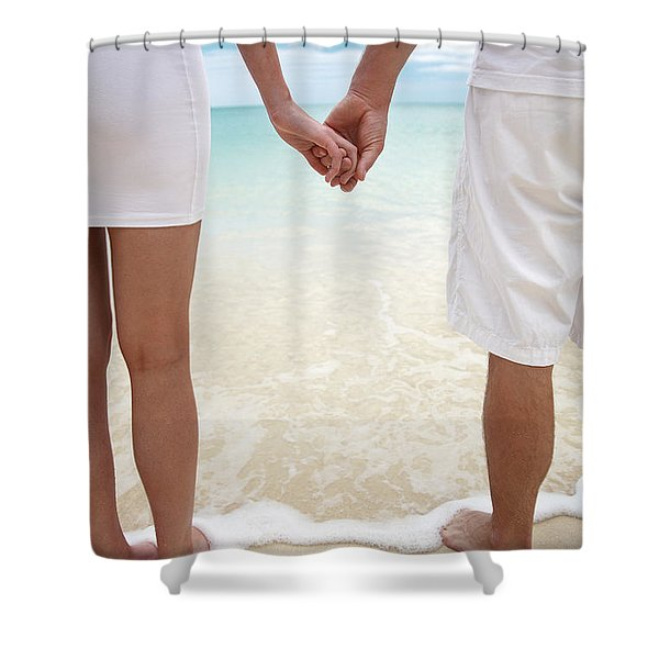 Hands Joined Shower Curtain by Brandon Tabiolo - Printscapes