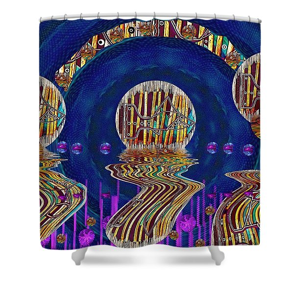 Happy Under The Rainbow Vintage Shower Curtain by Pepita Selles