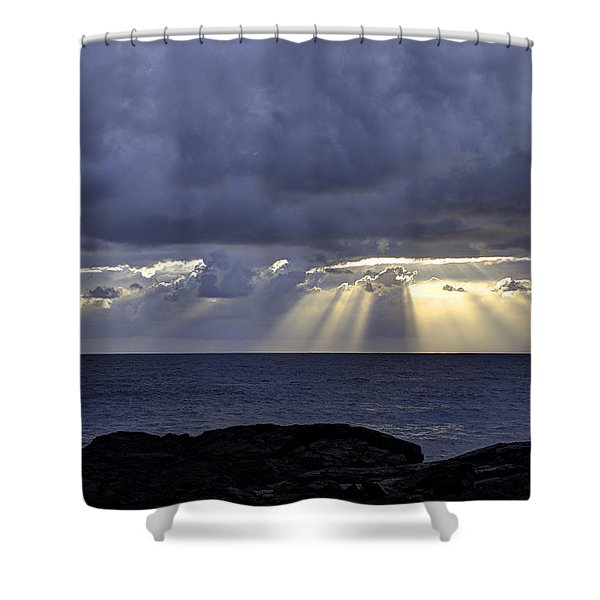 Hawaiian Sunrise Shower Curtain by Mike Herdering