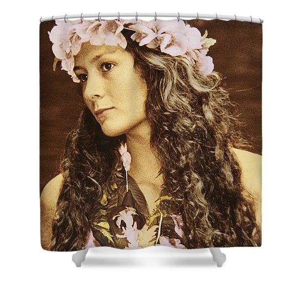 Hawaiian Wahine Shower Curtain by Himani - Printscapes