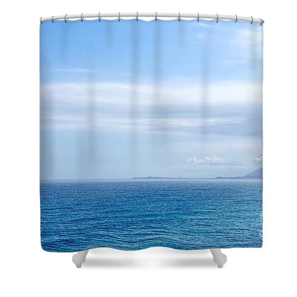Hazy Ocean View Shower Curtain by Kaye Menner