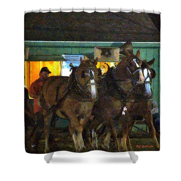 Heading Into The Ring Shower Curtain by RC DeWinter