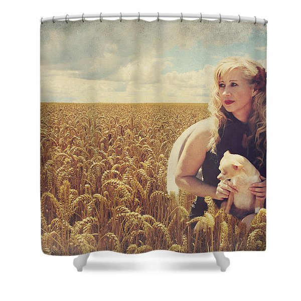 Hearts and Thoughts They Fade....Fade Away Shower Curtain by Laurie Search