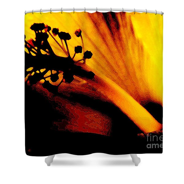Heat Shower Curtain by Linda Knorr Shafer