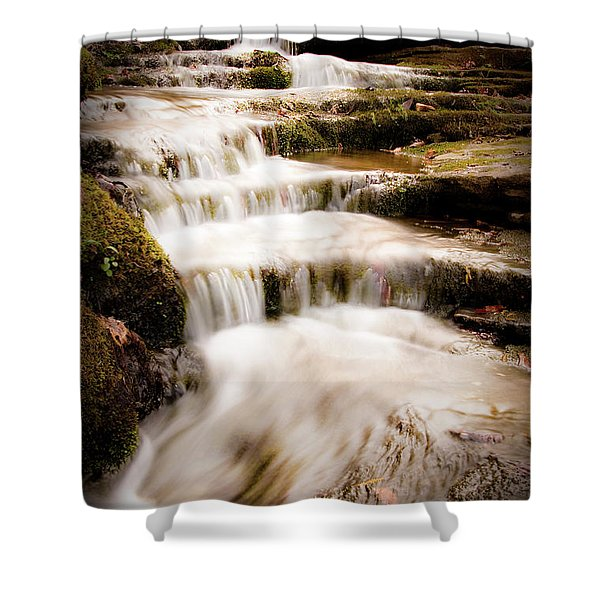 Hidden Falls Shower Curtain by Tamyra Ayles