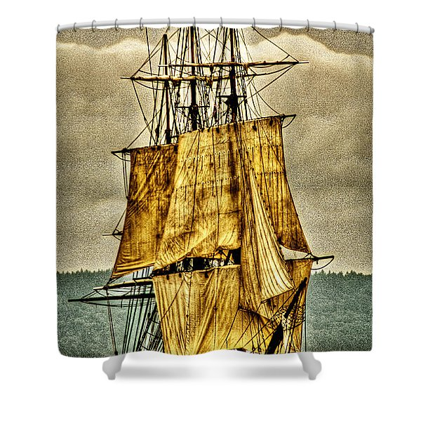 HMS Bounty Shower Curtain by David Patterson