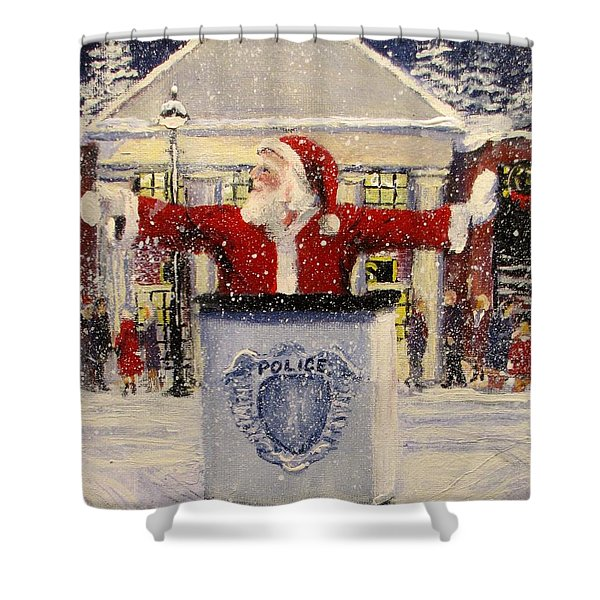HO HO GO... Shower Curtain by Jack Skinner
