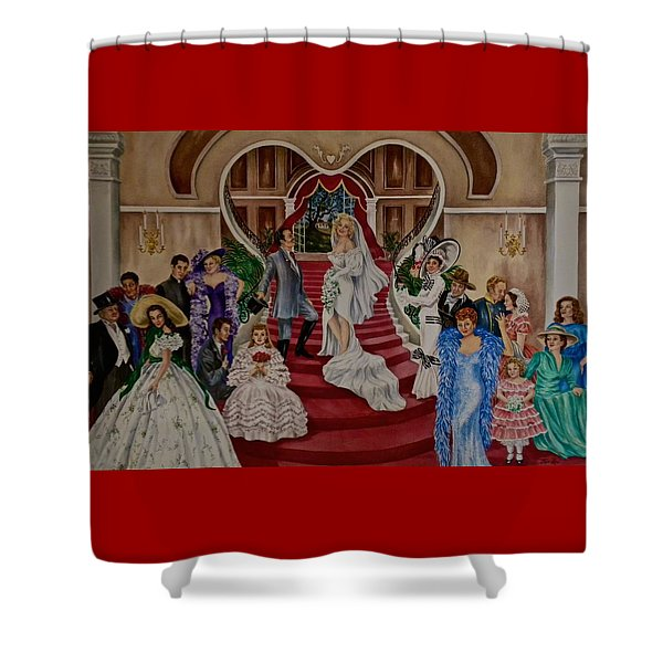Hollywood Legends Shower Curtain by Jan Law