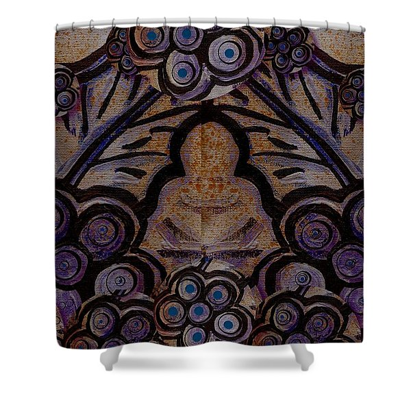 Holy In Peace And Acryl Shower Curtain by Pepita Selles