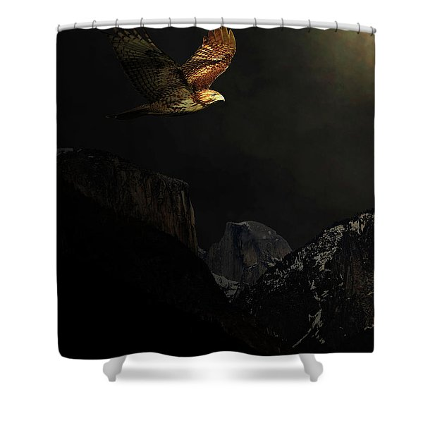 Homeward Bound Shower Curtain by Wingsdomain Art and Photography