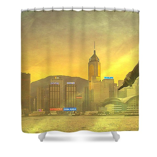 Hong Kong Lights Shower Curtain by Loriental Photography