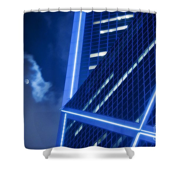 Hong Kong Moonlight Shower Curtain by Ray Laskowitz - Printscapes