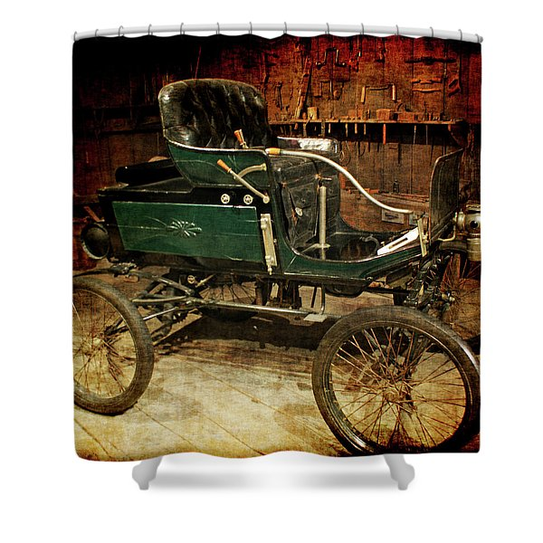 horseless carriage Shower Curtain by Ernie Echols