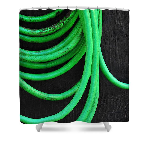 Hosed Shower Curtain by Skip Hunt