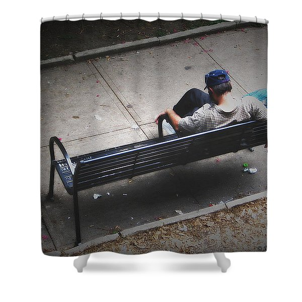 Hot And Homeless Shower Curtain by Brian Wallace