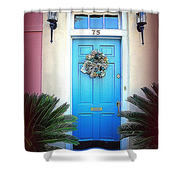 House Door 6 In Charleston Sc Shower Curtain by Susanne Van Hulst