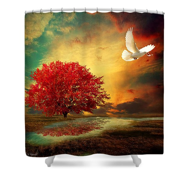 Hued Shower Curtain by Lourry Legarde