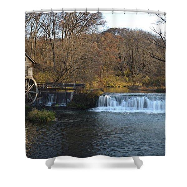 Hyde Mill Wisconsin Shower Curtain by Steve Gadomski