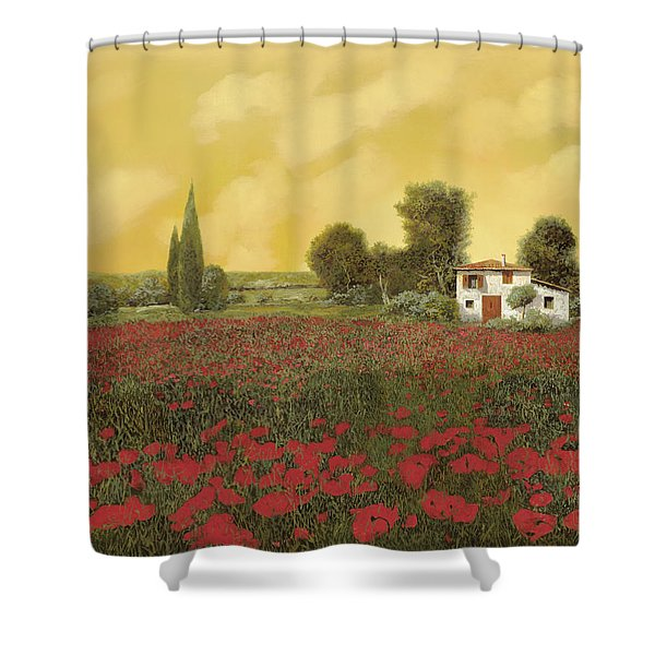 i papaveri e la calda estate Shower Curtain by Guido Borelli