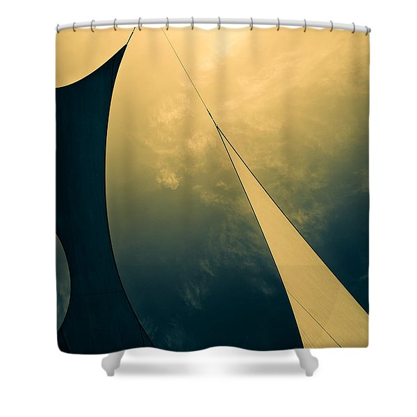 Icarus Journey to the sun Shower Curtain by Bob Orsillo