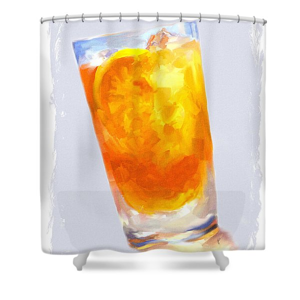 Iced Tea Shower Curtain by Jai Johnson