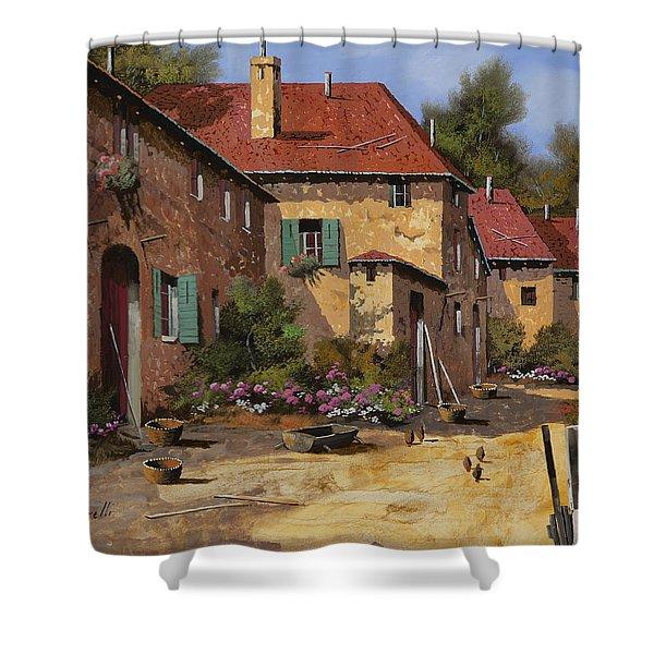 il carretto Shower Curtain by Guido Borelli