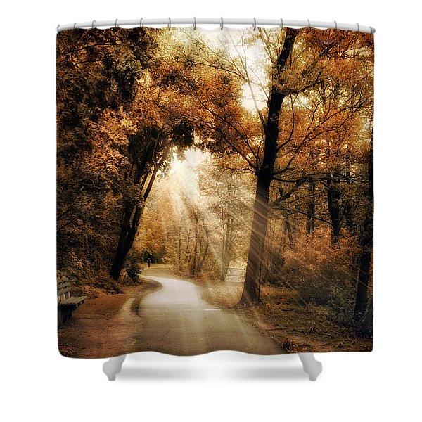 Illumination Shower Curtain by Jessica Jenney