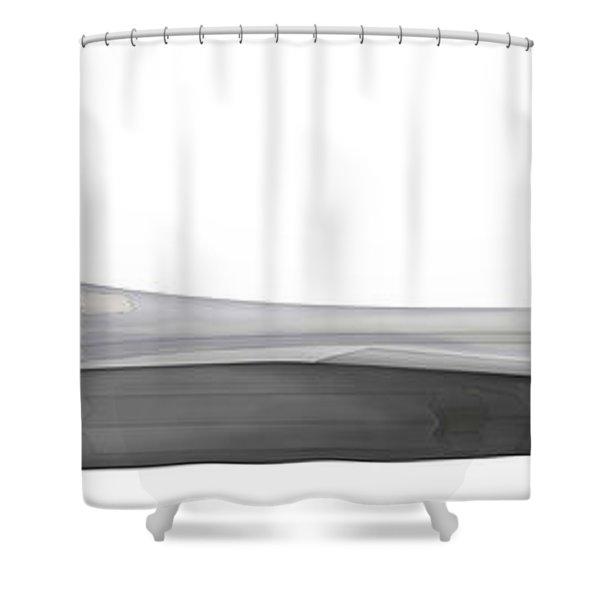 Illustration Of A Lockheed Martin F-22 Shower Curtain by Chris Sandham-Bailey